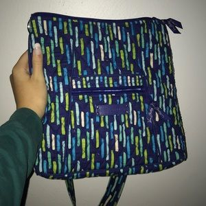 Blue and Green Vera Bradley Cross-Body Bag
